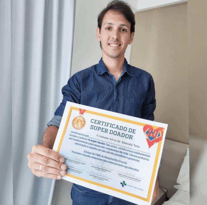 Cristiano donated twice (Brazil)